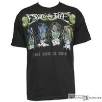 Escape The Fate - Zombie Heads Mens T-shirt in Black