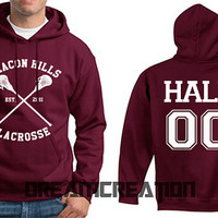 HALE 00 Beacon Hills 00 Number Lacrosse Wolf Teen Unisex Hoodie - Tumblr Text - Part 1