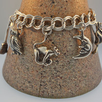 Silver Halloween Charm Bracelet - 7 inches