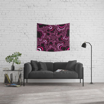 Pink abstract pattern. Striped pattern. Wall Tapestry by veronika2v
