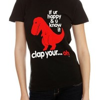 Goodie Two Sleeves Dino Clap Girls T-Shirt 2XL