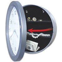 Wall Clock With Hidden Safe Stash Jewelry Cash Shelves Diversion Free Shipping