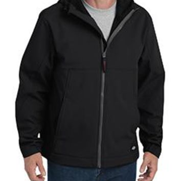 Dickies - Men's Performance Flex Soft Shell Jacket with Hood