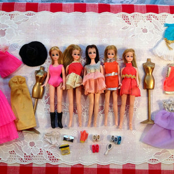 SALE Vintage Topper Dawn Barbie Mod Clothing Doll Accessories Lot 1960's WOW