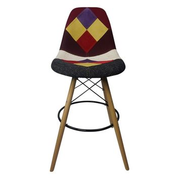 DSW Patchwork E - Bar Eiffel Chair Stool - Reproduction