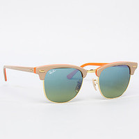 The Clubmaster Sunglasses in Beige & Orange