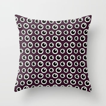 Eye Spy Throw Pillow by lalainelim