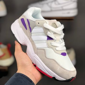 HCXX A1420 Adidas Yung-96 Men Casual Sports Retro Sneakers Gray Purple