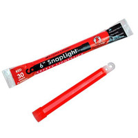 Cyalume Snaplight, 6in., Red, 30min., NON-TOXIC