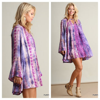 Fall Tie Dye Boho dress