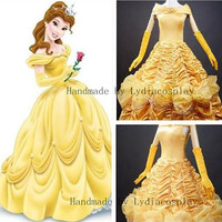 Handmade - Belle Dress, Belle Costume, Princess Belle Dress, Belle Dress Adult/kid, Belle Costume Adult/Kid