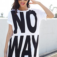 No Way Knit Tee