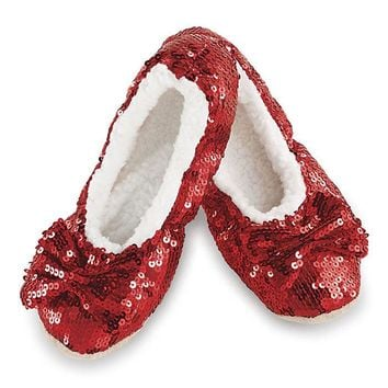 Women's Sequin Sherpa Lined Slippers