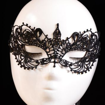 2pcs new Lady Black Lace Floral Eye Mask Venetian Masquerade Fancy Party Dress