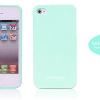 Pastel Mint Green iPhone 4 / 4S Jelly Case - Turquoise