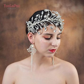 2019 Bridal headband wedding crown rhinestone crystal hair jewelry