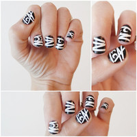 Mummy Nail Stickers.  Halloween Themed Vinyl by stickitvinyl