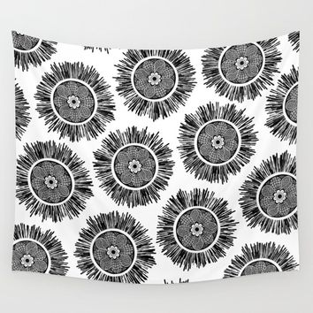 Zenstar Black & White Wall Tapestry by inspiredimages