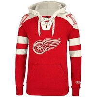 Mens Detroit Red Wings Reebok Red Pullover Hoodie