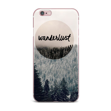 "Robin Dickinson ""Wanderlust"" Gray Black iPhone Case"