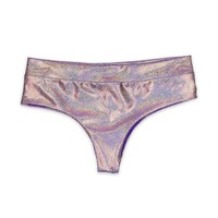 Boyshort Bikini Bottom - Purple Cluster