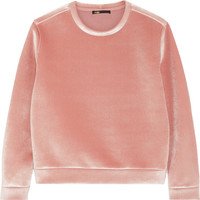 Maje - Stretch-velvet sweatshirt