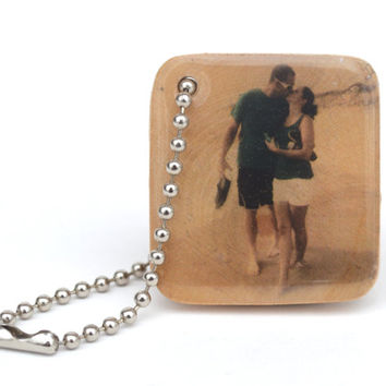 Personalized keychain mens keychain photo boyfriend gift, husband gift, dad gift, wife gift, girlfriend gift, personalized, photo keychain