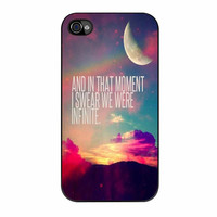 Perks Of A Wall Flower Quote Design Vintage Retro iPhone 4 Case