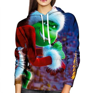 Grinch Stole Christmas Womens Hoodie