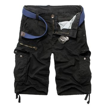 2017 Summer Dress Cargo Shorts Clothing Solid Color Casual Fashion Men Loose Tracksuit Short Pants European American Style