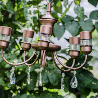 Lila - Vintage solar chandelier for garden or wedding