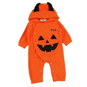 trick or toddler unisex newborn baby halloween clothes wear infant overall costume jumpsuit outfit pumpkin romper for girl