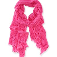 Flocked Heart Scarf -