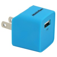 AC single 2.4A USB Charger, Blue