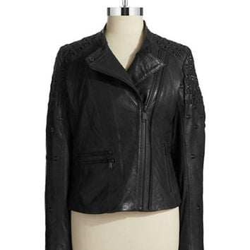Andrew Marc Quilted Moto Jacket