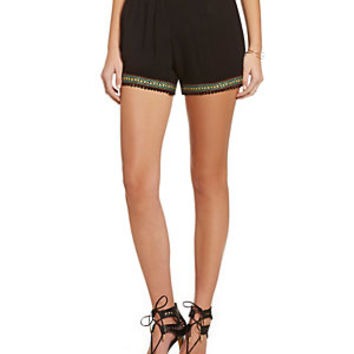 Banana Lemon Tribal-Trim Shorts | Dillard's Mobile