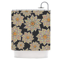 "Pom Graphic Design ""Floral Dance in the Dark"" Shower Curtain"