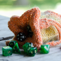 Dice bag knit with drawstring Made To Order