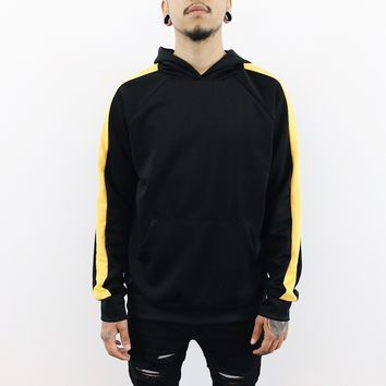 Gerry Striped Hoodie (Black/Gold)