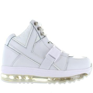 YRU Qozmo Aire - White High-Top Platform Sneaker