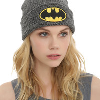 DC Comics Batman Logo Marled Grey Watchman Beanie