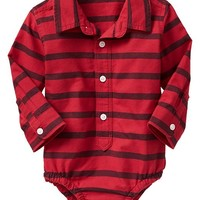 Gap Baby Factory Stripe Button Up Bodysuit