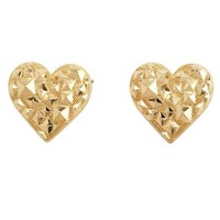 Geo Heart Stud Earrings: Charlotte Russe