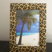 Decorated Frame - Zebra or Leopard Picture Frame  -  Add some fun style to your room.