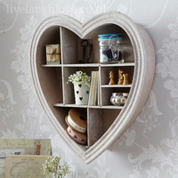 heart shape shelf from live laugh love