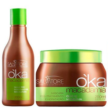 SALVATORE OKA MACADAMIA Y OJON HAIR HYDRATING TRATAMIENTO KIT 300ml / 10,13fl.oz.
