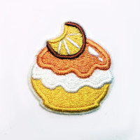 Poke Puff: Fancy Citrus Flavor - Machine Embroidered Patch Applique