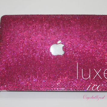 Macbook 15' case w Swarovski Elements. Crystal Bling small 16ss size Any Color