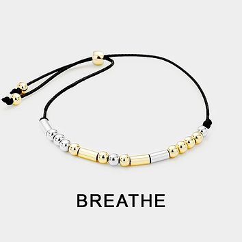 """Breathe"" Morse Code Cinch Bracelet"