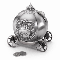Pewter Finish Fairy Tale Coach Bank